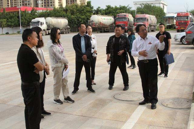 省委政研室调研组到沧龙物流对服务业发展进行调研
